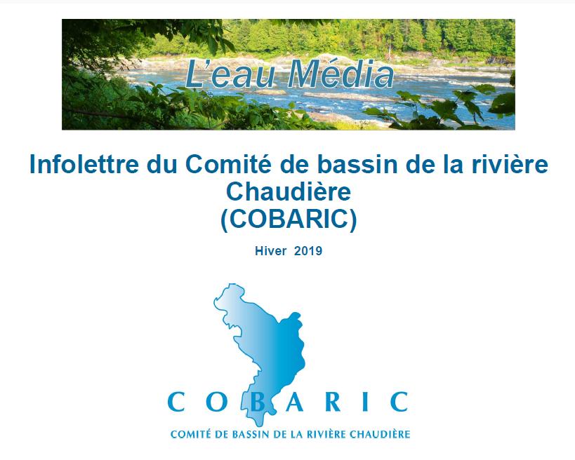 Infolettre du Comité de bassin de la rivière Chaudière - Hiver 2019