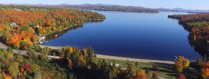 Le lac Mégantic en automne